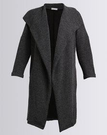 Utopia Knit Wrap Coat Grey