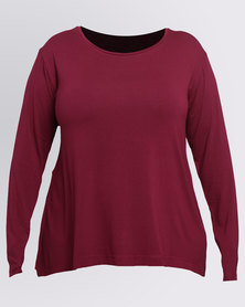 Utopia Plus Relaxed T-Shirt Burgundy