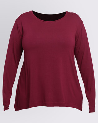 Utopia Plus Relaxed T-Shirt Burgundy