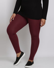 Utopia Plus Basic Leggings Burgundy