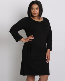 Utopia Plus Basic T-Shirt Dress Black