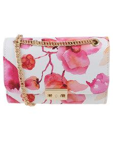 Vikson Ladies Elegant Crossbody Bag Pink/Floral