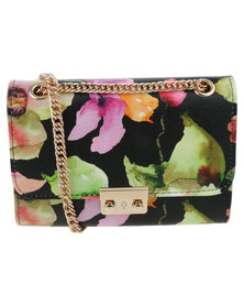 Vikson Ladies Elegant Crossbody Bag Black/Floral