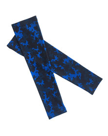 Vivolicious Camo Blue TechFIT UV Arm Sleeves Black Blue