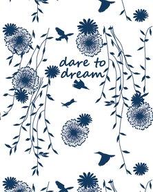 Vivolicious Dare to Dream Heady Bandana White Blue