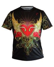 Vivolicious Insignia Tech Shirt Black Red