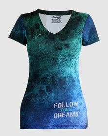 Vivolicious Follow Your Dreams Pro Cool V Shirt Turquoise