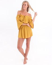 Volcom Ami Jumpsuit Mustard