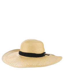 Volcom To Be in The Sea Straw Wide Brim Hat Natural