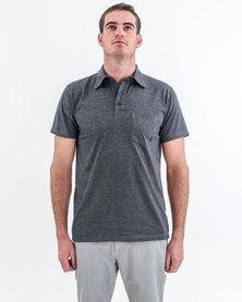 Volcom Short Sleeve Golfer Charcoal