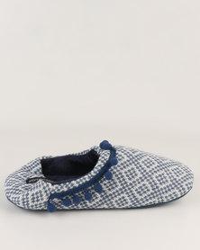 Women'secret Sneakers Collection Open Toe Slippers Blue