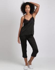 Women'secret Fun Pajamas Black