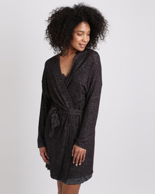 Women'secret Robe Charcoal