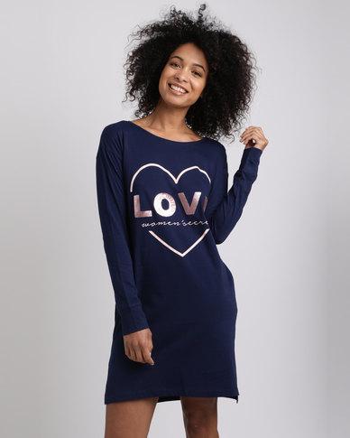 Women'secret Nightdress Blue