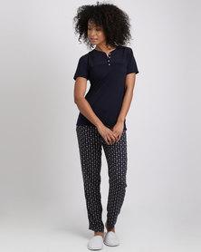 Women'secret Feminine Pajamas 4 Marine Blue