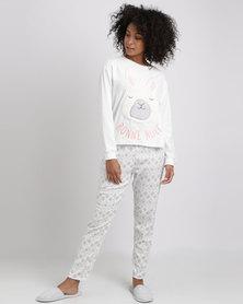 Women'secret Fun Pyjamas Ivory