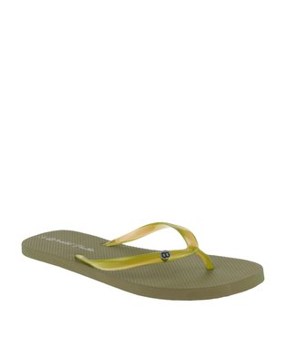 World Tribe Free Spirit Flip Flop Olive Green