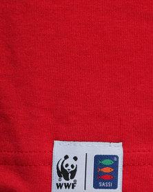 WWF SASSI Octopus Boys T-Shirt Red