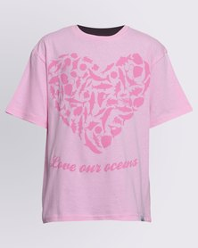 WWF SASSI Love Our Oceans Girls T-Shirt Pink