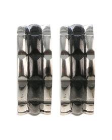 Xcalibur Mens Small Hoop Earrings Silver-Tone