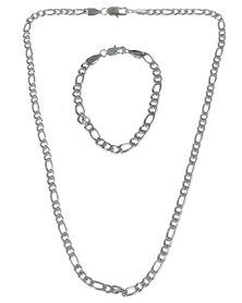 Xcalibur Mens Chain Jewellery Set Silver-Tone