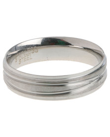 Xcalibur Mens Slim Ring Silver-Tone