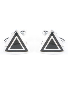 Xcalibur Triangle Cufflinks Sliver-tone