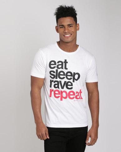 Xplicit Rave Repeat T-Shirt White