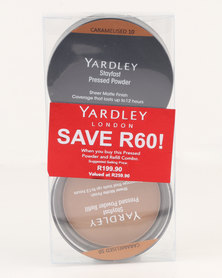 Yardley Pressed Powder Refill Combo Caramelised SAVE R60