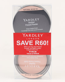 Yardley Pressed Powder Refill Combo Natural Beige SAVE R60