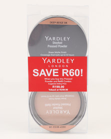 Yardley Pressed Powder Refill Combo Deep Beige SAVE R60