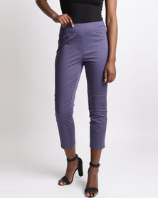 Yarra Trail Crop Pull On Jeans Navy