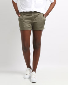 YAYA Shorts Shiny Green
