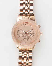 You & I Adjustable Links Clasp Closure Watch Rose Gold-tone