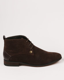 Zah Colin Formal Boots Brown