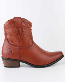 Zäh Reno Cowboy Ankle Boot Tan