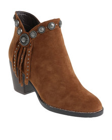 ZOOM Taylor Studded Heeled Boot Brown