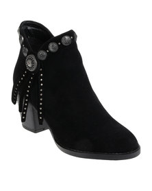 ZOOM Taylor Studded Heeled Boot Black