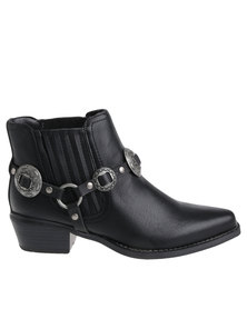 ZOOM Jada Heeled Boot Black