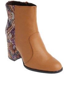 ZOOM Christal Heeled Boot Brown