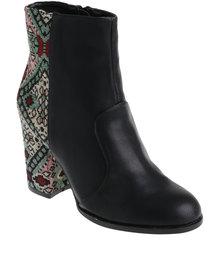 ZOOM Christal Heeled Boot Black