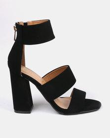 ZOOM Sara Block Heels Black
