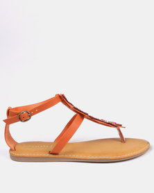ZOOM Tory Sandals Orange
