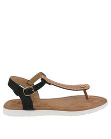 ZOOM Patty Eyelets Thong Sandals Tan