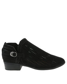 ZOOM Stella Cut Out Heeled Boot Black