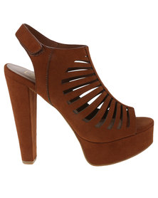 ZOOM Karly Peep Toe Heel Chestnut