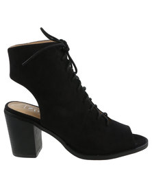 ZOOM Alex Lace-Up Heel Black