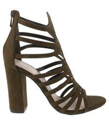 Zoom Savannah Caged Heel Olive
