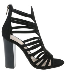 Zoom Savannah Caged Heel Black